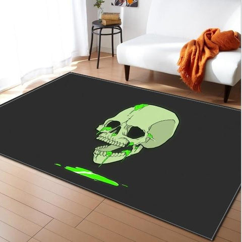 Green Skull Carpet