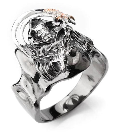 grim reaper ring silver