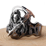 Grim Reaper Ring Silver | Skull Action