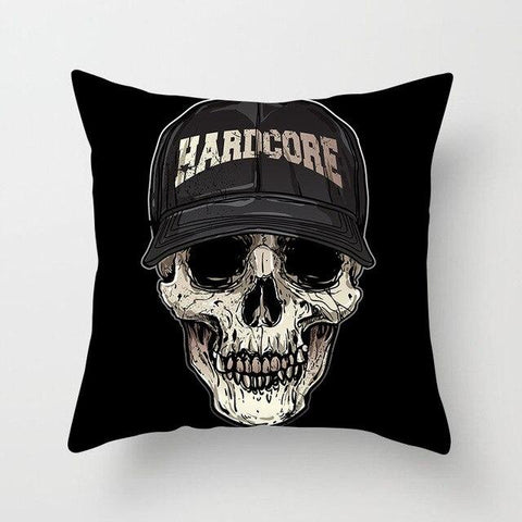 Hardcore Skull Pillow
