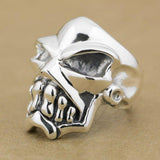 Heavy Silver Skull Ring | Skull Action