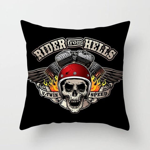 Hell Skull Pillow