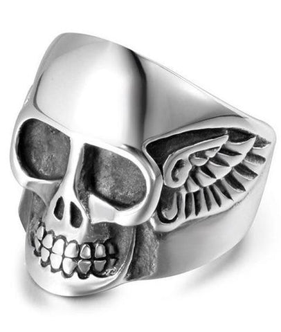 hells angels skull ring