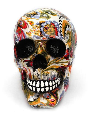 human skull decoration