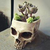 Human Skull Flower Pot | Skull Action