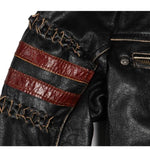 Icon Skull Leather Motorcycle Jacket | Skull Action