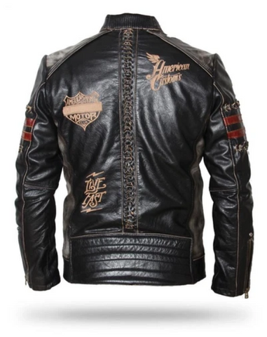 Icon Skull Leather Motorcycle Jacket