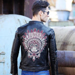 Indian Chief Leather Jacket | Skull Action