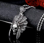 Indian Chief Necklace | Skull Action