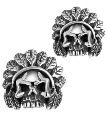 Indian Skull Earrings