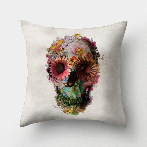 Jasmin Skull Pillow