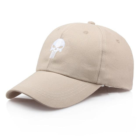 khaki punisher hat
