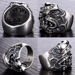 Large Skull Ring Silver | Skull Action