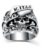 large skull ring silver
