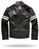 Leather Jacket Skull Crossbones