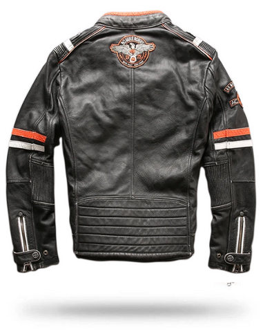 Leather Motorcycle Jacket With Skulls