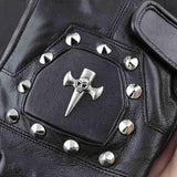 Leather Skull Motorcycle Gloves | Skull Action