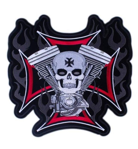 Leather Skull Patch