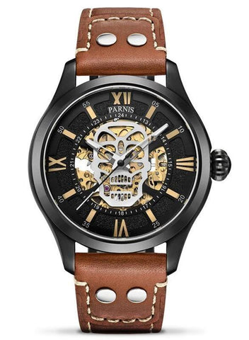 luxury skeleton watch mens