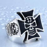 Maltese Cross Ring | Skull Action