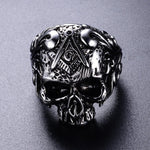 Masonic Ring Skull Crossbones | Skull Action