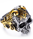 masonic ring skull crossbones