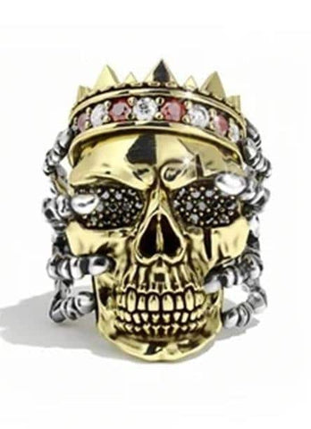 Mens King Skull Ring