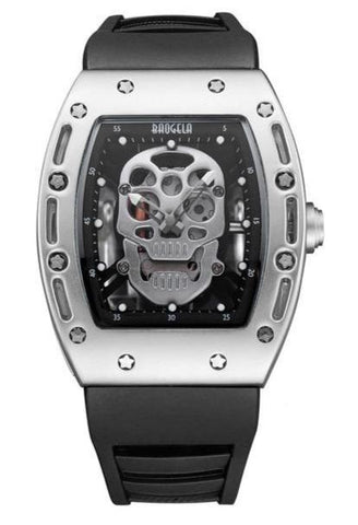 Mens Skeleton Watch Rectangle