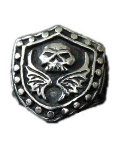 Mens Skull With Wings Ring | Skull Action