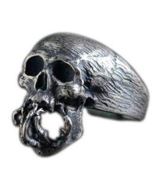 mens sterling silver biker rings
