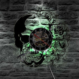Metal Flower Wall Clock | Skull Action