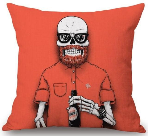Metalhead Skeleton Pillow