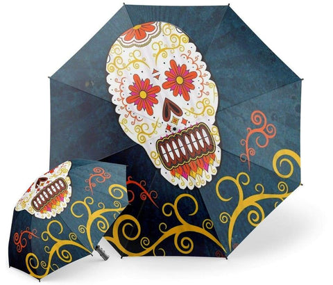 Mexican Skull Umbrella