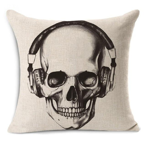 Music Skull Pillow