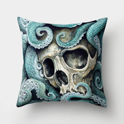 Octopus Skull Pillow