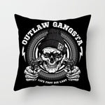 Outlaw Skull Pillow
