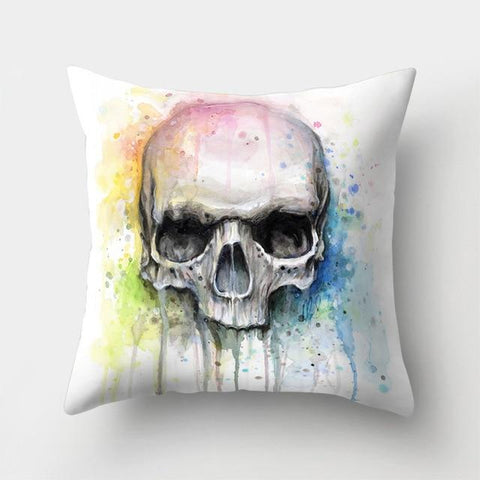 Paint Skull Pillow