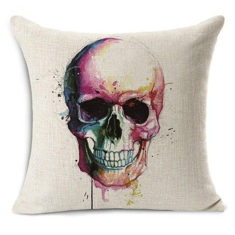Painting Skull Pillow