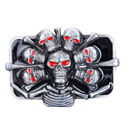 Pile Of Skulls Belt Buckle