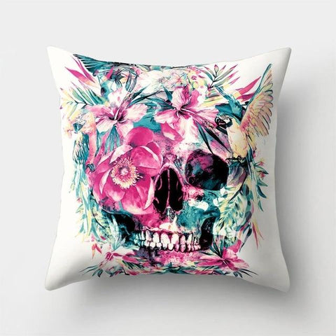 Pink Skeleton Pillow