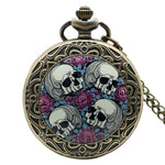 Pocket Watch Skull And Rose Tattoo