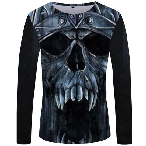 Skull Long Sleeve Shirt Men's