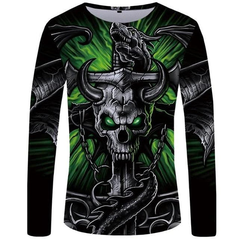 Men's Long Sleeve Skull Shirts