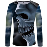 Mens Skull Print Long Sleeve Shirt