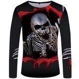 Long Sleeve Shirt With Skulls All Over