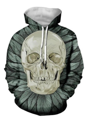 Graphic Skull Men Hoodies