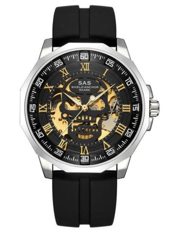 Mens Gold Skull Watch