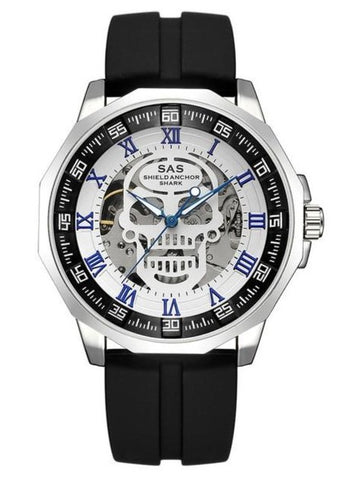 Mens Adjustable Skull Watch