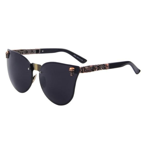 Sunglasses With Skull And Crossbones On Side