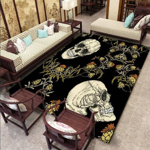 Skull And Crossbones Area Rug